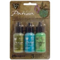 Vintaj Patina Kit Pack, Weathered Copper by Ranger x3 0.5oz Bottle Pack