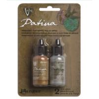 Vintaj Patina Kit Pack, Treasured Heirloom Metallics by Ranger x2 0.5oz Bottle Pack