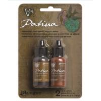 Vintaj Patina Kit Pack, Ancient Coin Metallics by Ranger x2 0.5oz Bottle Pack