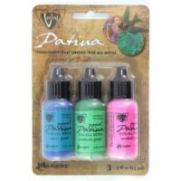 Vintaj Patina Kit Pack, Abalone Pearl by Ranger x3 0.5oz Bottle Pack (DISCOUNTED NO PACKAGE)