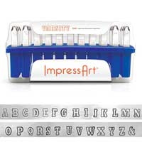 ImpressArt Varsity 6mm Alphabet Upper Case Letter Metal Stamping Set