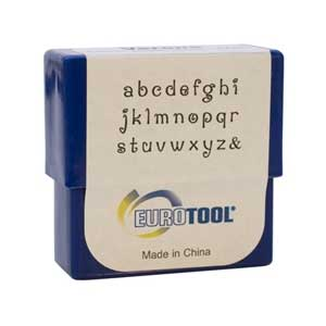 Verona Alphabet Lower Case Letter 2mm Metal Stamping Set - Eurotool