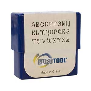 Verona Alphabet Upper Case Letter 2mm Metal Stamping Set - Eurotool