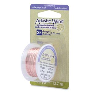 Artistic Wire 26ga Rose Gold SP per 15 yd (13.7m) Dispenser Roll