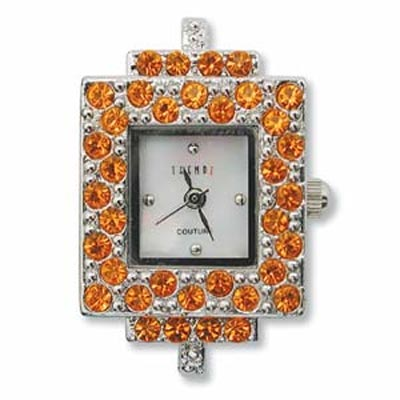 Austrian Crystals Trendz Couture Square Watch Face for Beading Silver Austrian Crystals Hyacinth (D07)