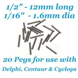 Beadsmith WigJig Pins 20pc, for Delphi, Centaur & Cyclops Wig Jig