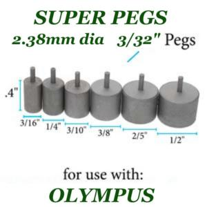 Beadsmith WigJig Super Pegs Small 6pc, for Olympus Wig Jig
