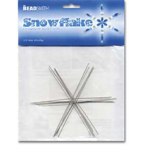 Beadsmith Snowflake Ornament Wire Form 3 3/4 inch 8 pc pack
