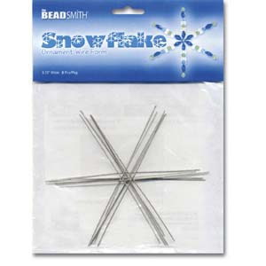 Beadsmith Snowflake Ornament Wire Form 4.5 inch 7 pc pack