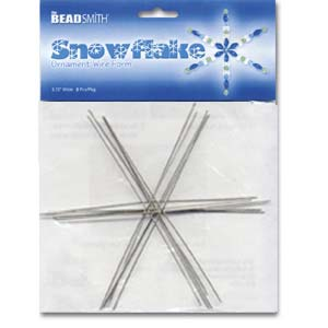 Beadsmith Snowflake Ornament Wire Form 6 inch 6 pc pack