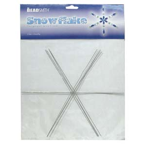 "Snowflake Ornament Wire Form 9"" 4 piece"
