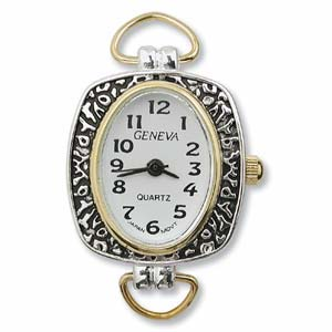 Watch Face for Beading Looped ~ Silver/Gold Two-Tone - 03