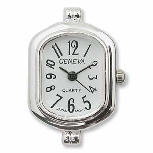 Watch Face for Beading - Silver - 14