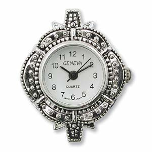 Watch Face for Beading - Silver  (Marcasite Style)- 11