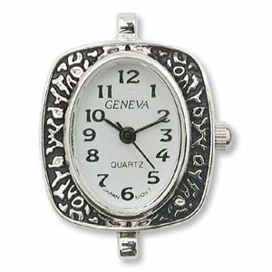 Watch Face for Beading - Silver - 10