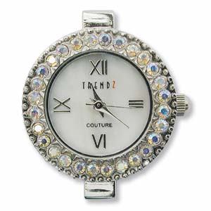 Watch Face for beading ~ Austrian Crystals AB -01