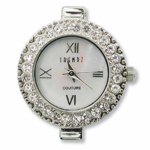Watch Face for beading ~ Austrian Crystals CLEAR - 05