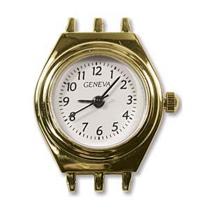 Watch Face for beading ~ Gold Plated ~ 3-Strand - 01
