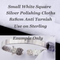 Sterling Silver Jewellery Cleaning Polishing Cloth Small Square 8x8cm x1