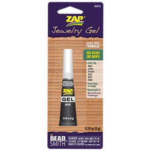 Zap Gel - Jewellery Super Glue - .10 oz (3 gram) Tube