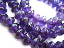 Amethyst ~ Button beads 5-5.5mm - per half strand
