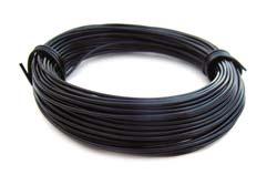 Aluminium Wire 18 gauge (1mm) x39ft (12m) Black