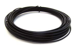Aluminium Wire 12 gauge x39ft / 12m - Black