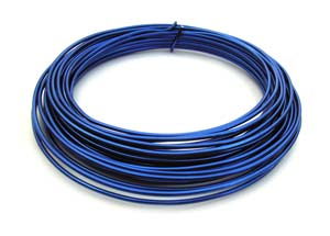 Aluminium Wire 12 gauge x39ft / 12m - Blue