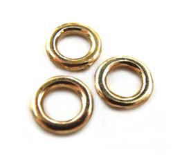 Pure Brass - Anti Tarnish 8mm Closed Flat Jump Ring x1