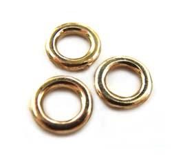 Pure Brass - Anti Tarnish 6mm Closed Jump Ring 3.7mm i.d. x1