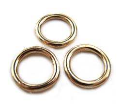 Pure Brass ~ Anti Tarnish ~ Closed Jump Ring 9.5mm x1