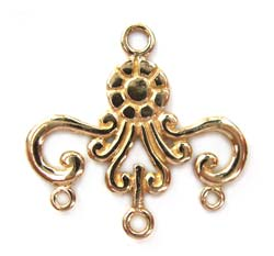 Pure Brass ~ Anti Tarnish ~ Chandelier Pendant x1