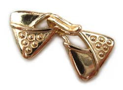 Pure Brass ~ Anti Tarnish ~ Triangle Hook & Eye Clasp 3-Strand x1