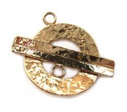 Pure Brass ~ Anti Tarnish ~ Hammered Toggle x1
