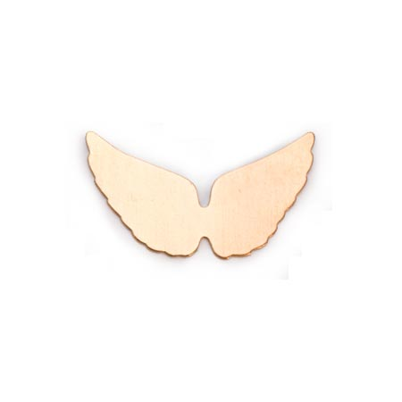 Brass Angel Wings 24g Stamping Blank 29x16mm