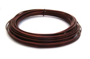Aluminium Wire 12 gauge x39ft / 12m - Brown
