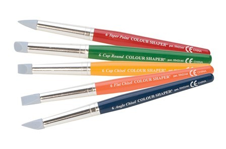 Eurotool Metal Clay, PMC Polmer Art Colour Shapers - for Clay Work Set of 5