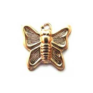 Gold Filled 9mm Butterfly Charm x1