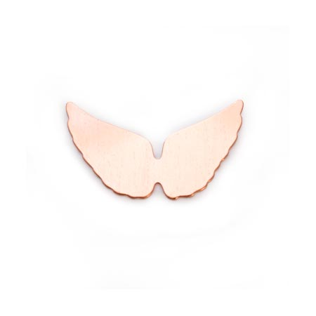 Copper Metal Stamping Blank, Angel Wings 29x16mm, 24ga x1