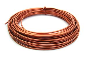 Aluminium Wire 12 gauge x39ft / 12m - Copper (light)