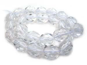 Czech Fire Polished beads 4mm Crystal x50