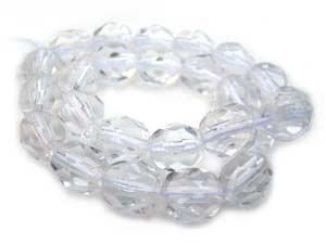 Czech Glass Fire Polished beads 6mm - x25 Crystal
