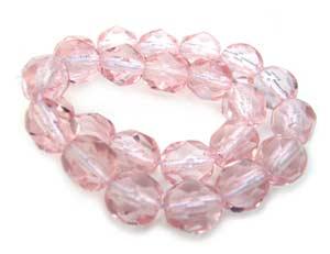 Czech Glass Fire Polished beads 6mm - x25 Rosaline