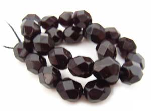 Czech Glass Fire Polished beads 6mm - x25 Garnet