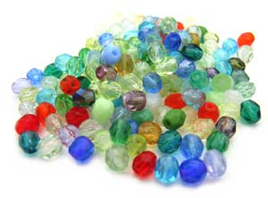 Czech Fire Polished beads 4mm Rainbow Mix x50