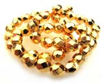 Czech Fire Polished beads 4mm Gold x50
