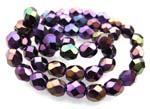 Czech Fire Polished beads 4mm Iris Purple x50