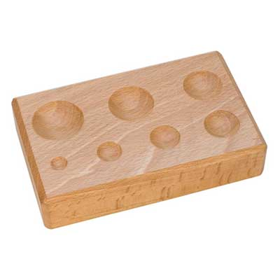Seven Round Groove Wooden Shaping Block - Jewellery Tools