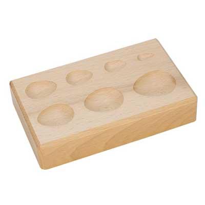 Seven Teardrop Groove Wooden Shaping Block - Jewellery Tools