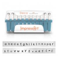 ImpressArt Deco 3mm Alphabet Lower Case Letter Metal Stamping Set